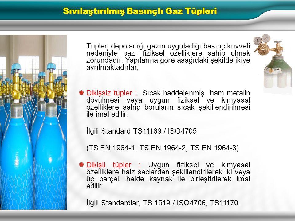 Sıvılaştırılmış Basınçlı Gaz Tüpleri