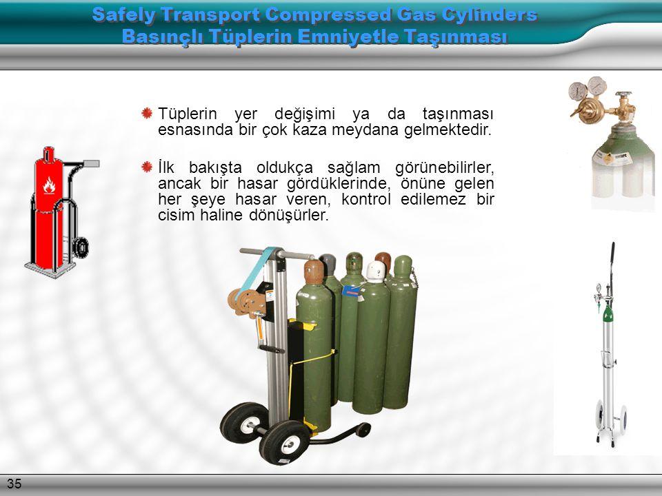 Safely Transport Compressed Gas Cylinders