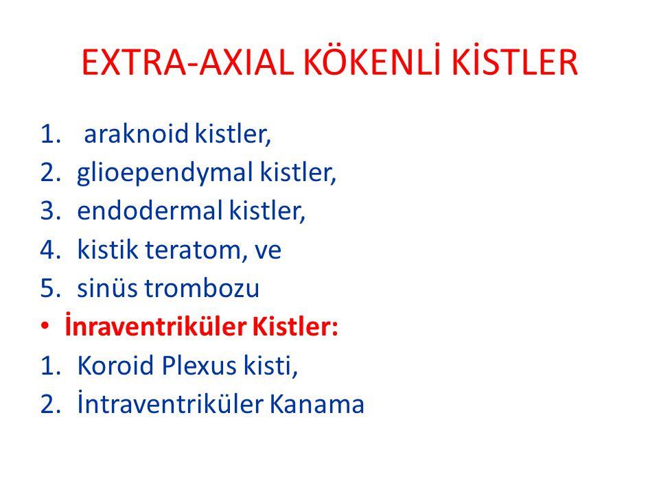 EXTRA-AXIAL KÖKENLİ KİSTLER
