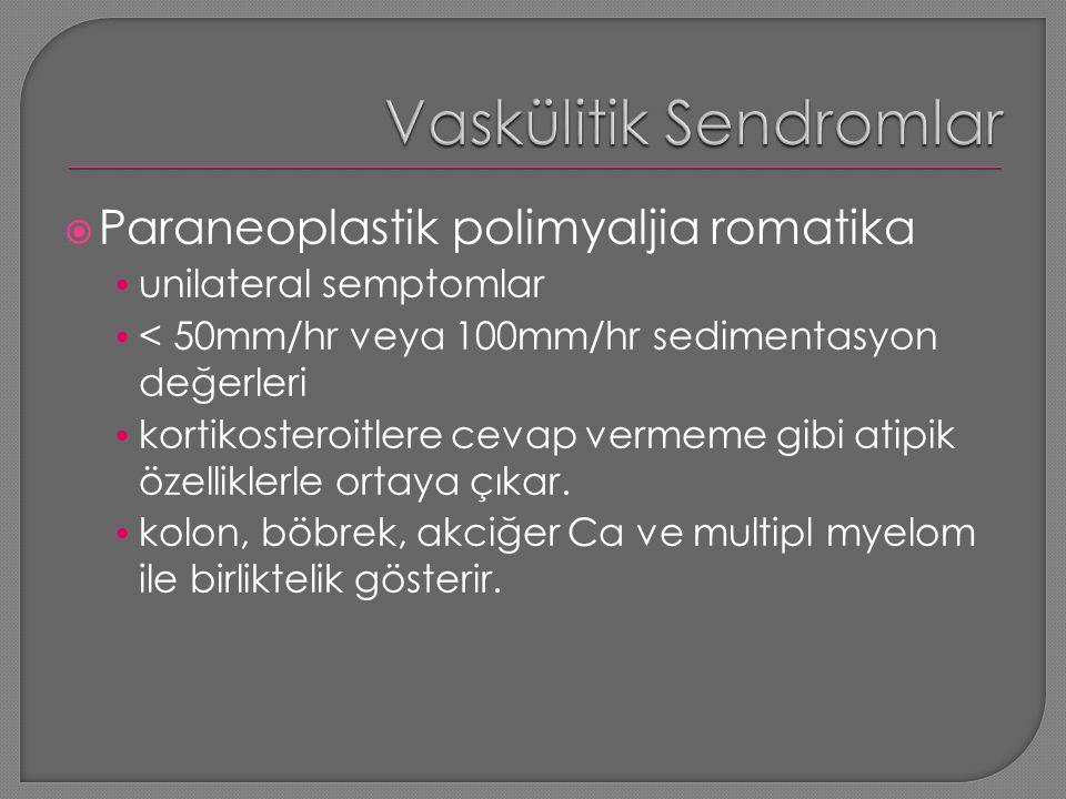Vaskülitik Sendromlar