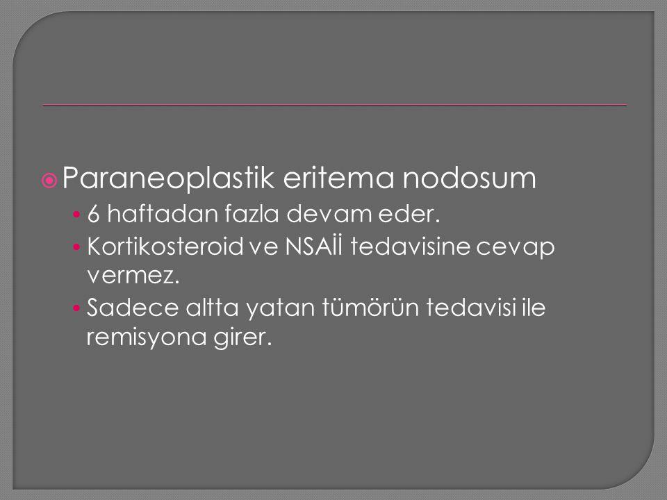 Paraneoplastik eritema nodosum
