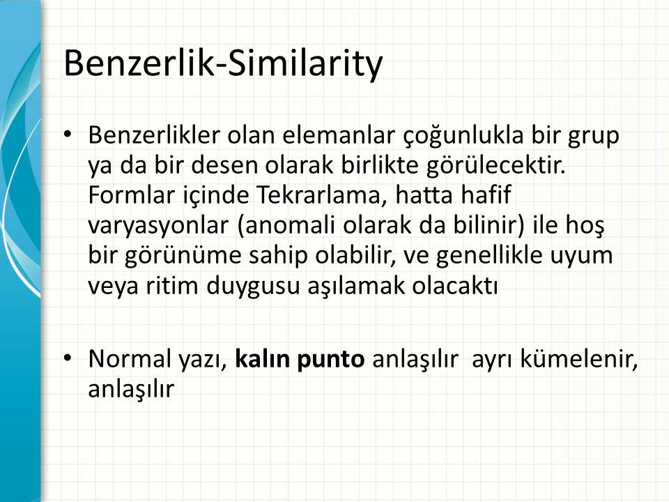 Benzerlik-Similarity