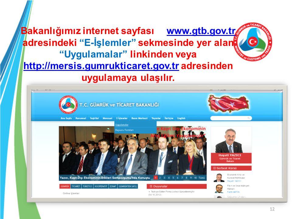 Bakanlığımız internet sayfası. www. gtb. gov