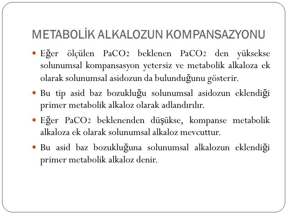 METABOLİK ALKALOZUN KOMPANSAZYONU