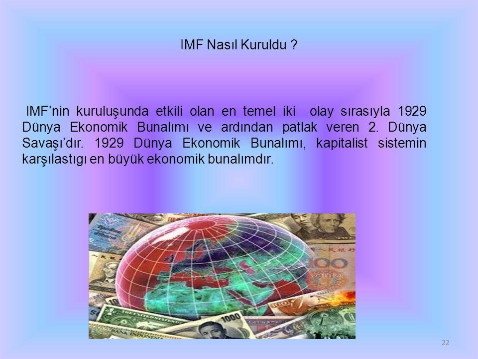 IMF Nasıl Kuruldu