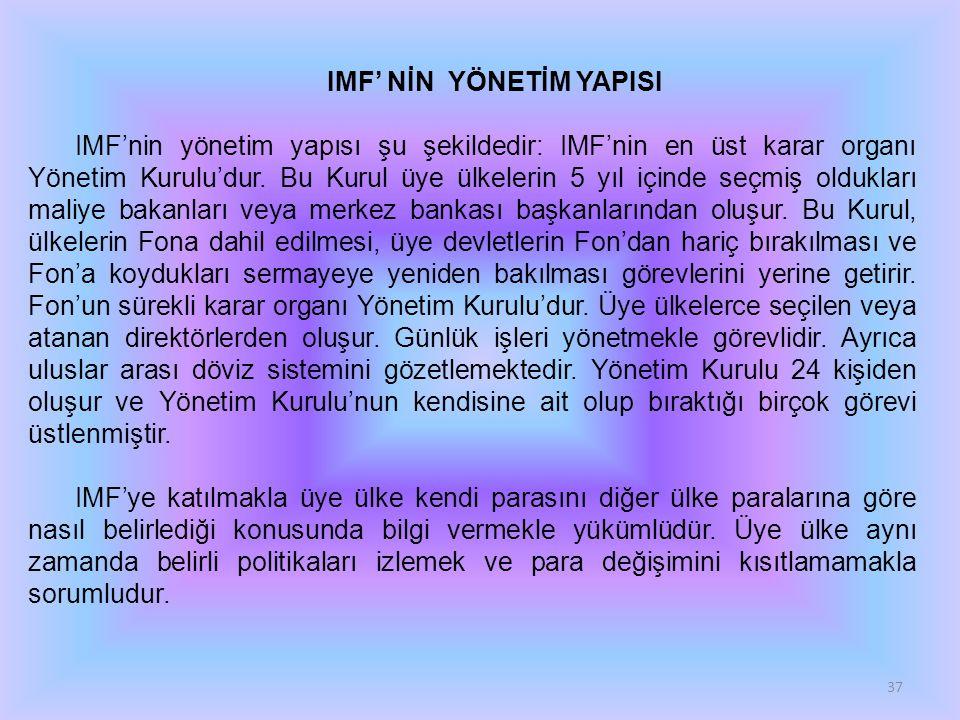 IMF' NİN YÖNETİM YAPISI