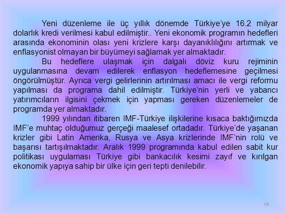Yeni düzenleme ile üç yıllık dönemde Türkiye'ye 16