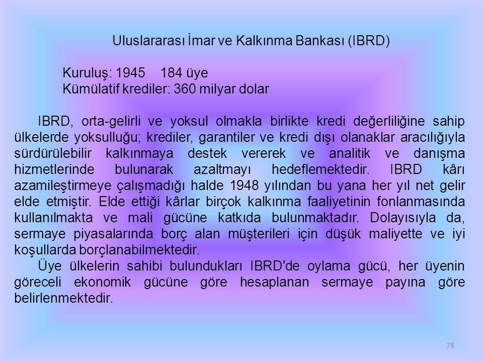 Uluslararası İmar ve Kalkınma Bankası (IBRD)