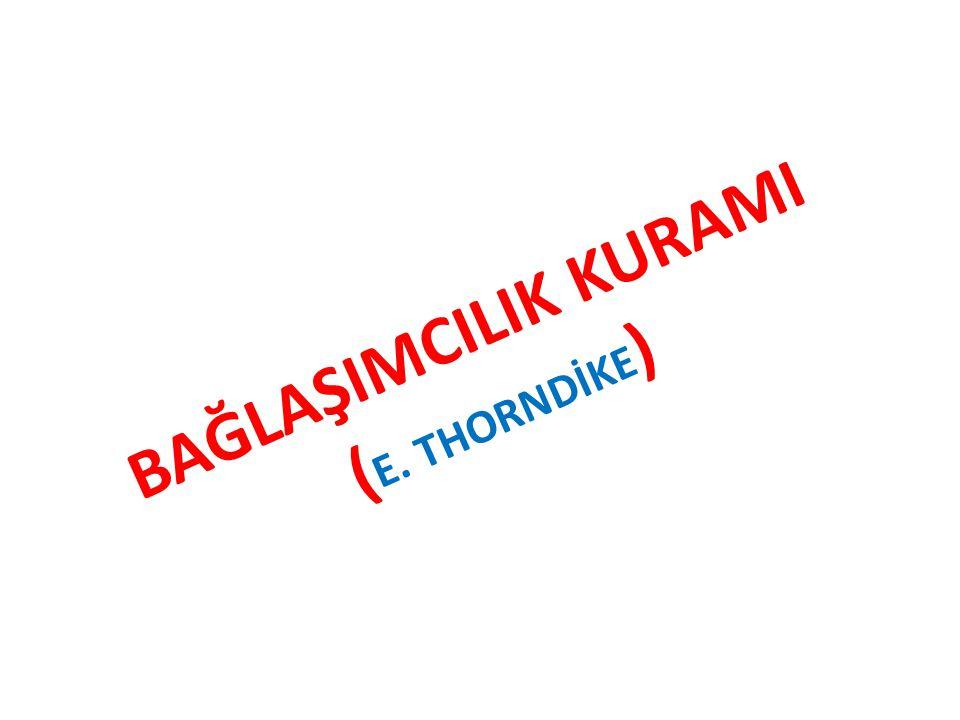 BAĞLAŞIMCILIK KURAMI (E. THORNDİKE)