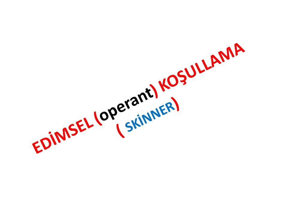 EDİMSEL (operant) KOŞULLAMA ( SKİNNER)