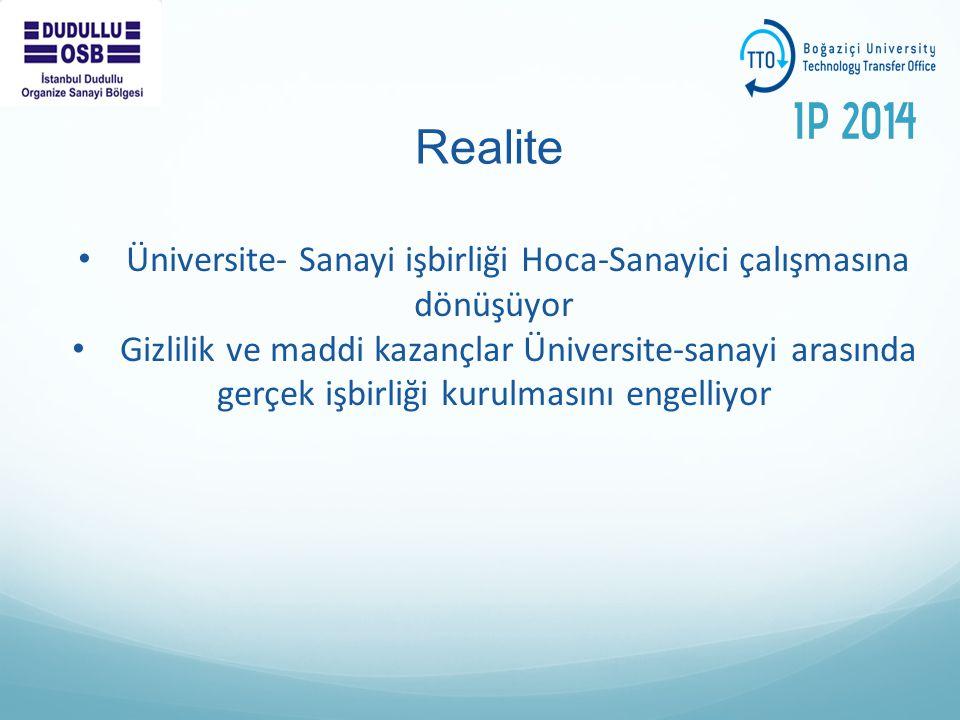 Realite Üniversite- Sanayi işbirliği Hoca-Sanayici çalışmasına