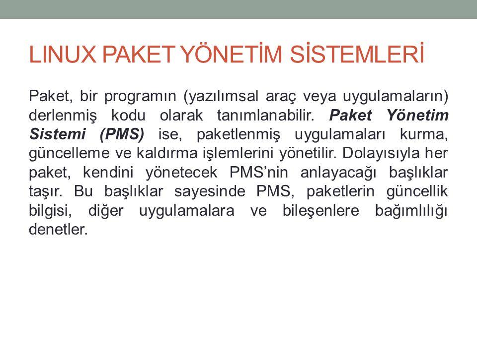 LINUX PAKET YÖNETİM SİSTEMLERİ