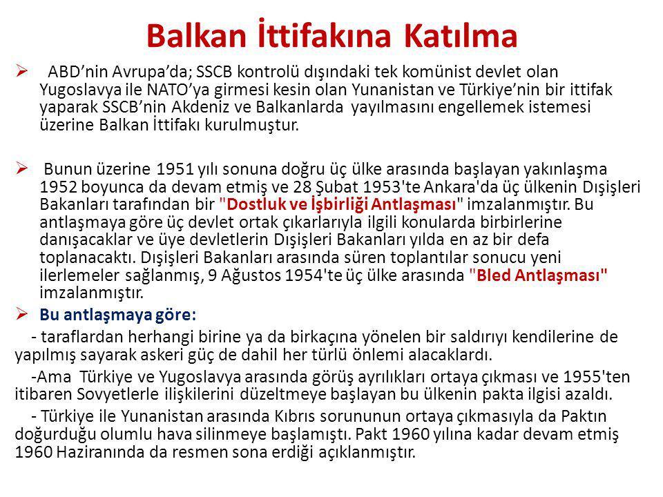 Balkan İttifakına Katılma