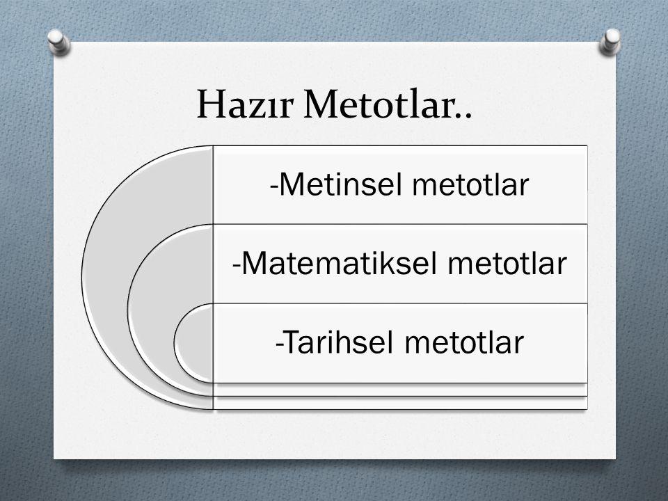 -Matematiksel metotlar