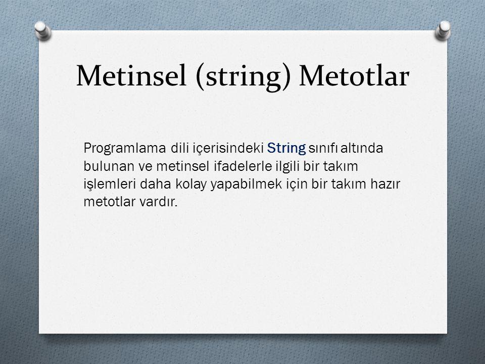 Metinsel (string) Metotlar