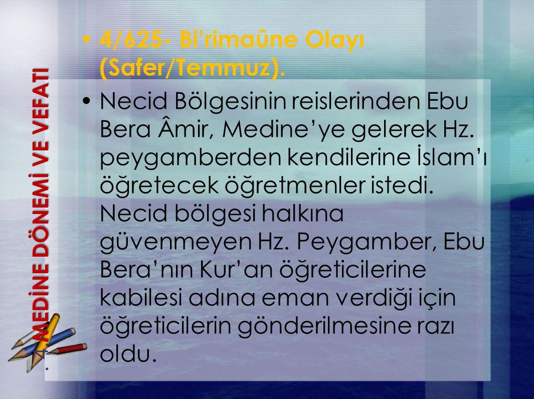 4/625- Bi'rimaûne Olayı (Safer/Temmuz).