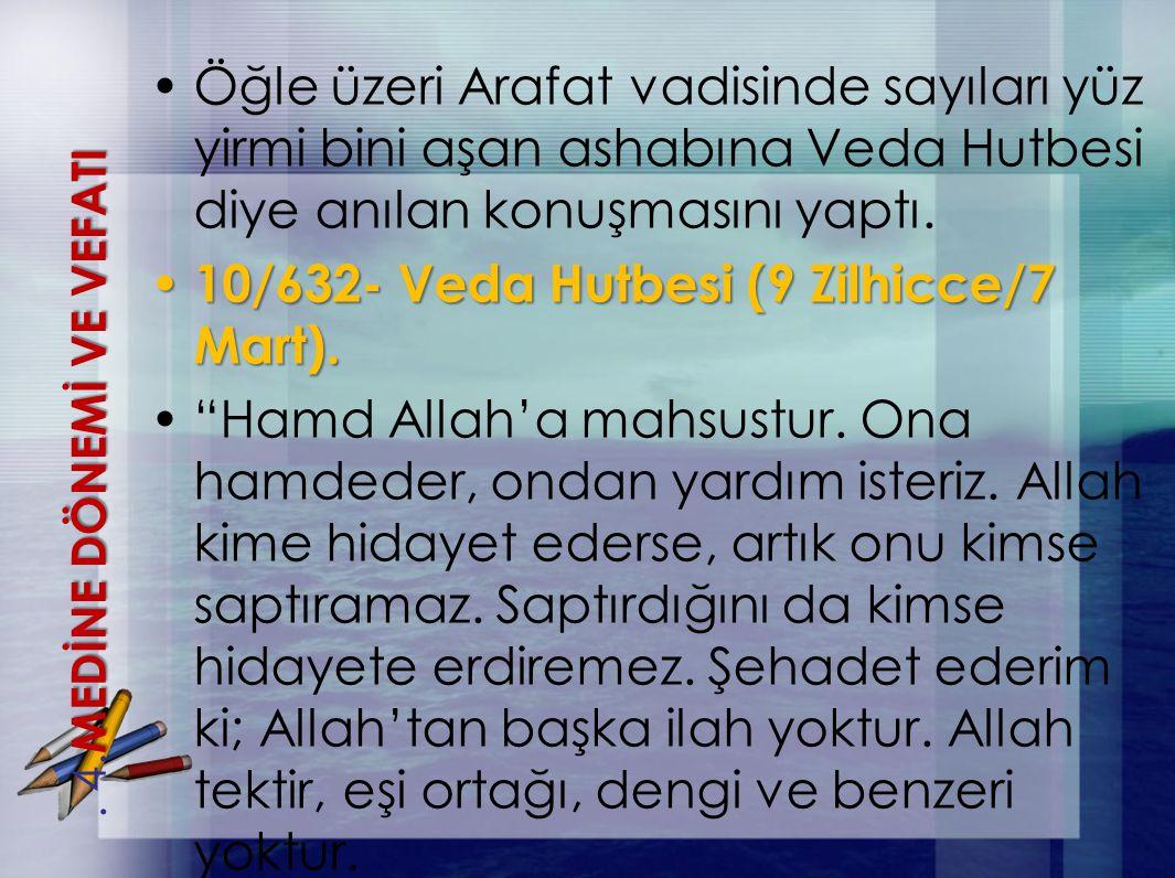 10/632- Veda Hutbesi (9 Zilhicce/7 Mart).
