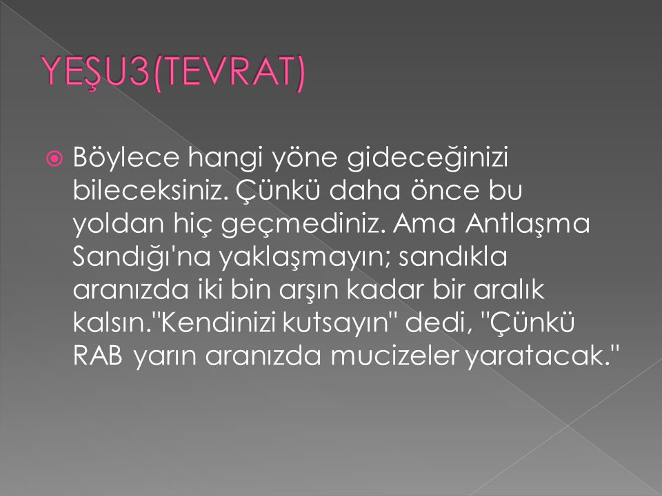 YEŞU3(TEVRAT)