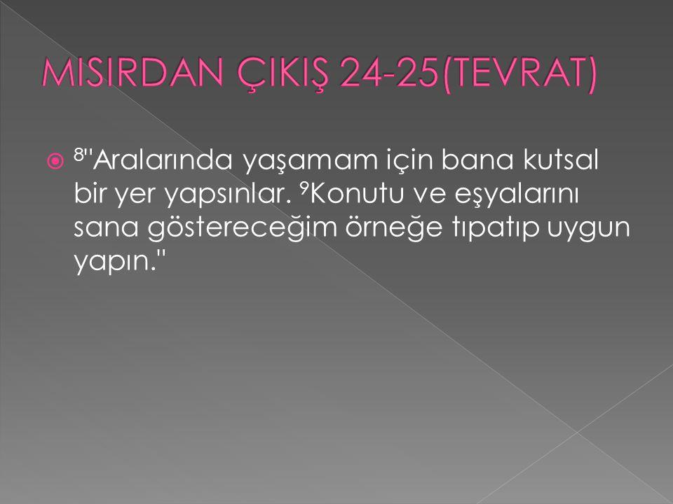 MISIRDAN ÇIKIŞ 24-25(TEVRAT)