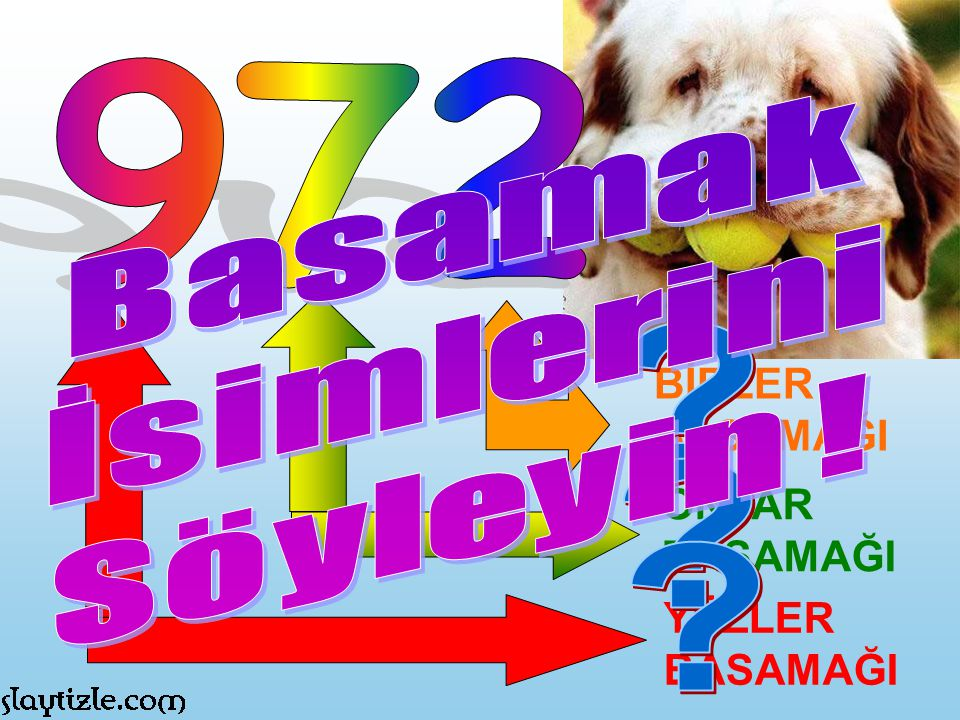 972 Basamak İsimlerini Söyleyin ! BİRLER BASAMAĞI ONLAR BASAMAĞI