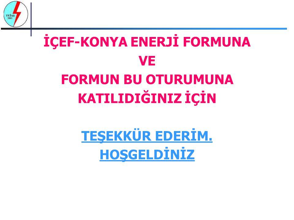 İÇEF-KONYA ENERJİ FORMUNA