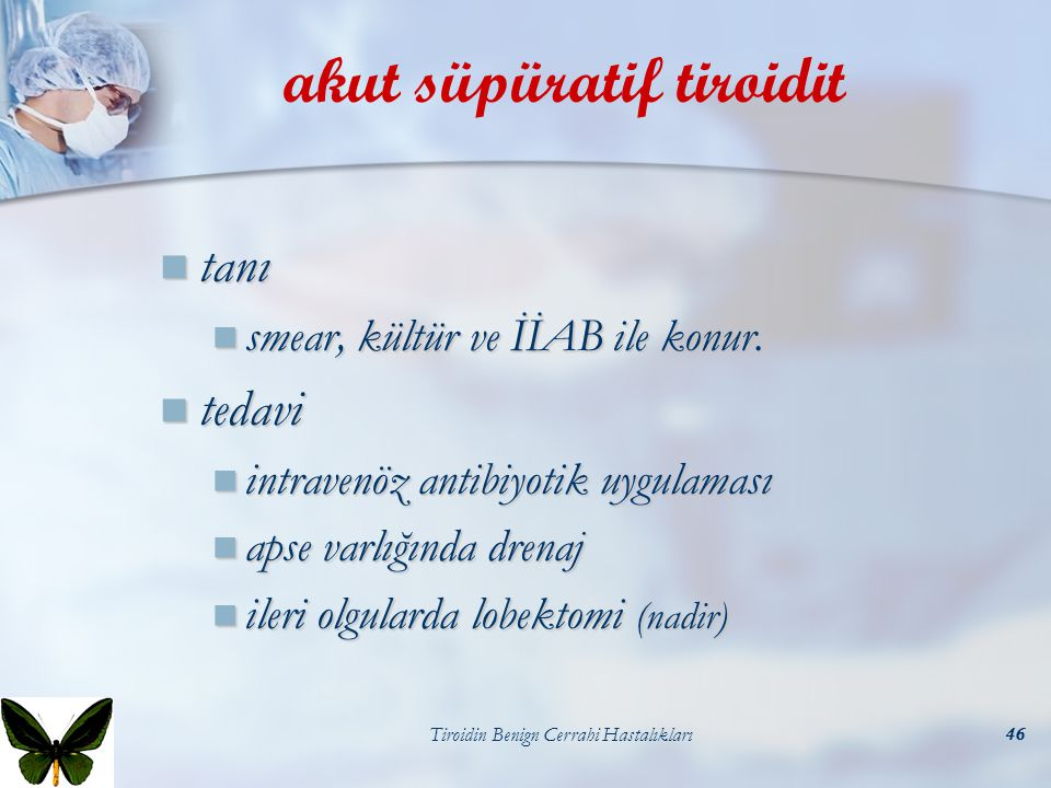 akut süpüratif tiroidit
