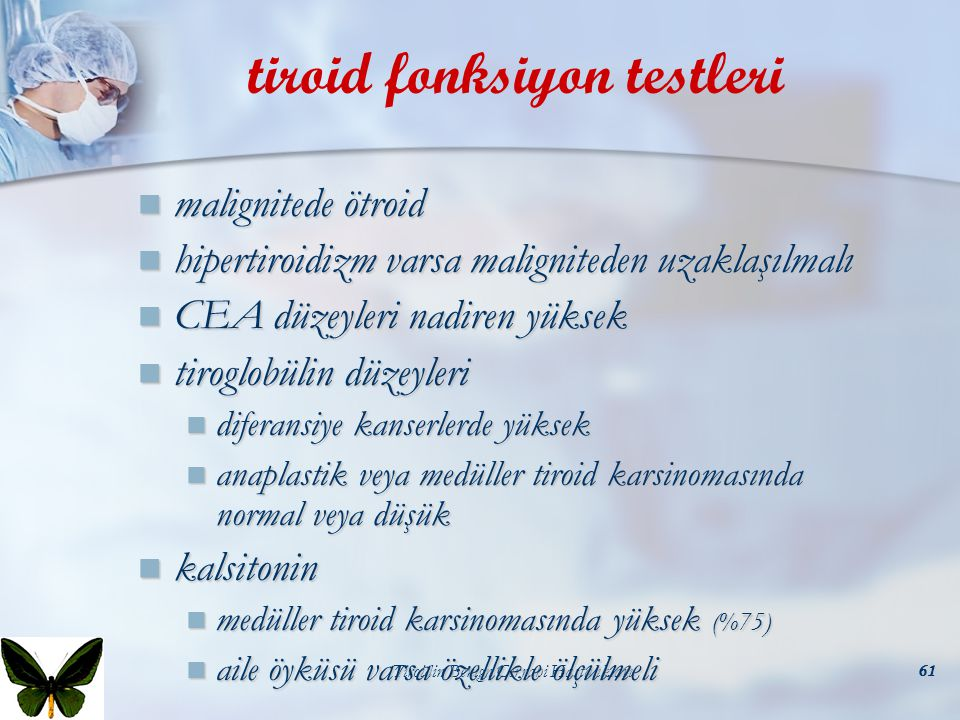tiroid fonksiyon testleri