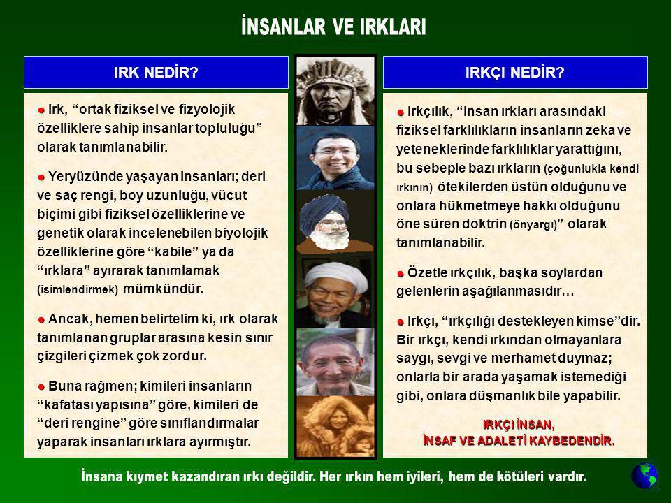 İNSAF VE ADALETİ KAYBEDENDİR.