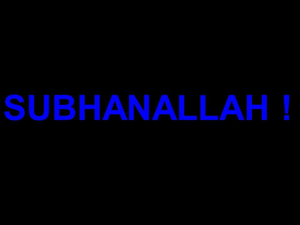 SUBHANALLAH !