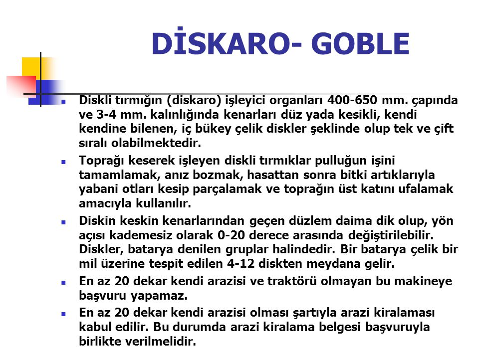 DİSKARO- GOBLE