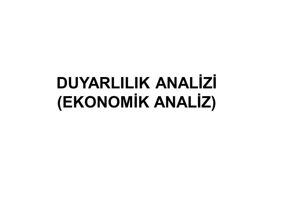 DUYARLILIK ANALİZİ (EKONOMİK ANALİZ)