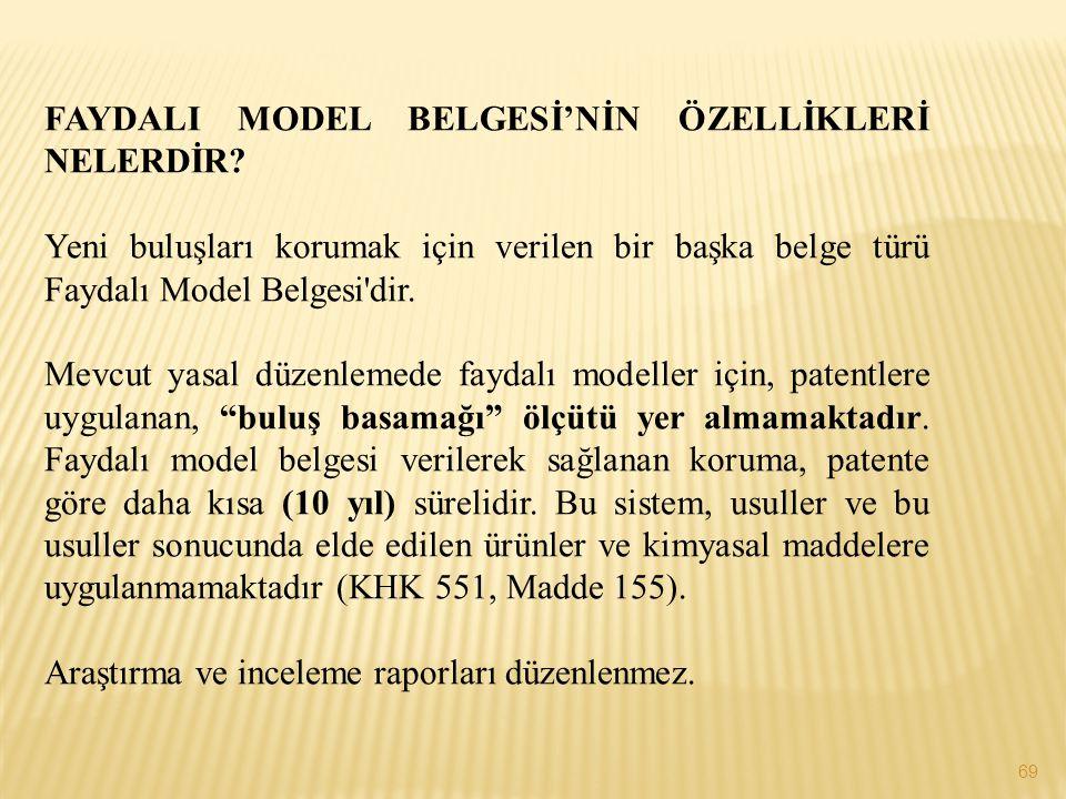 FAYDALI MODEL BELGESİ'NİN ÖZELLİKLERİ NELERDİR