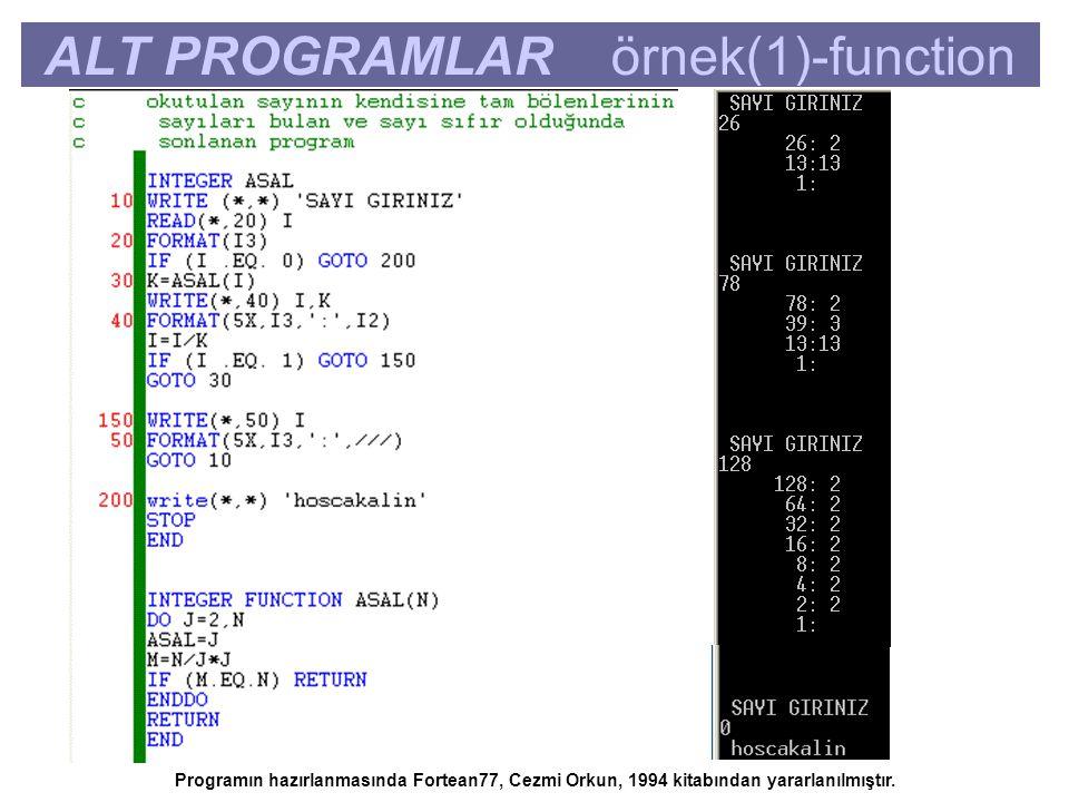 ALT PROGRAMLAR örnek(1)-function