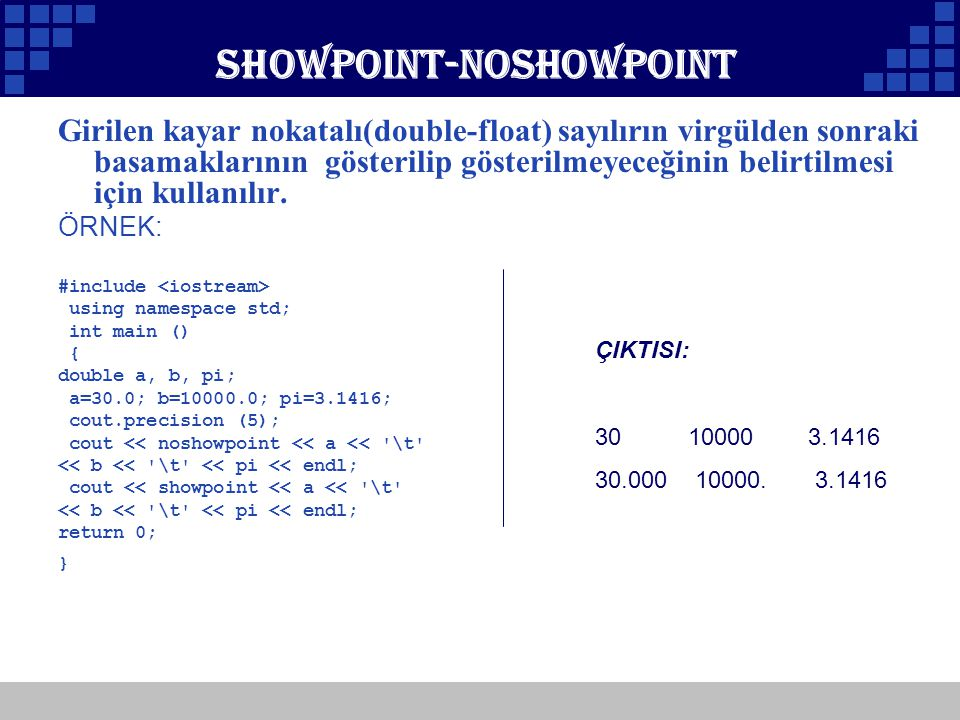 Showpoint-noshowpoint