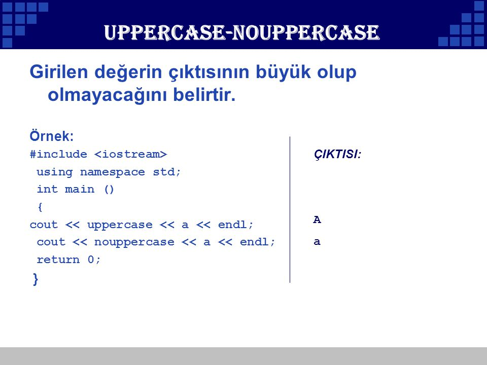 Uppercase-nouppercase
