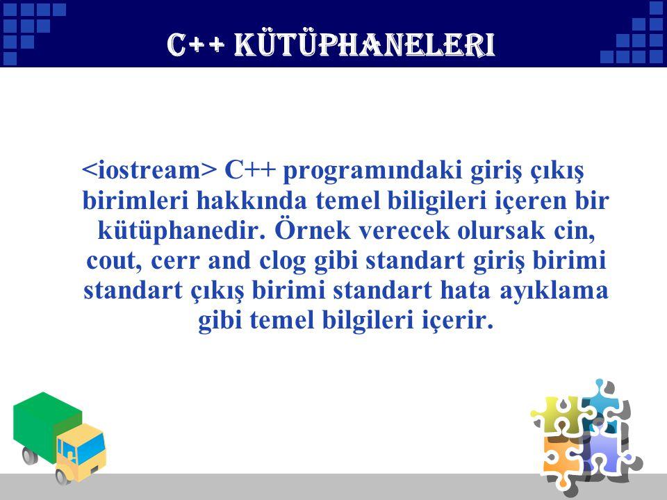 C++ kütüphaneleri
