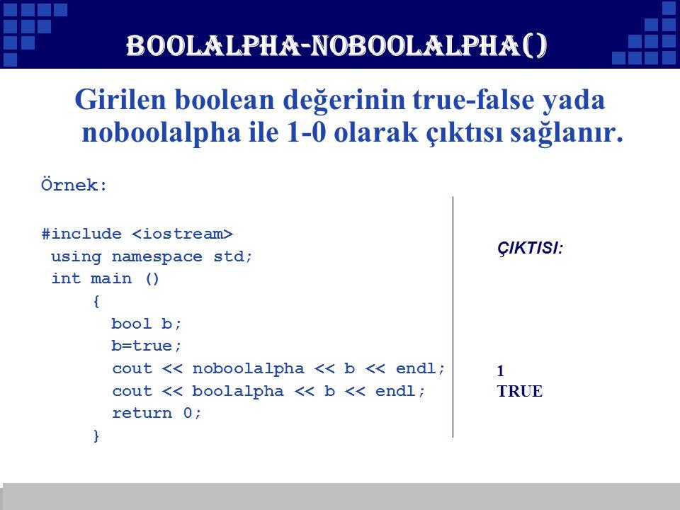 boolalpha-noboolalpha()