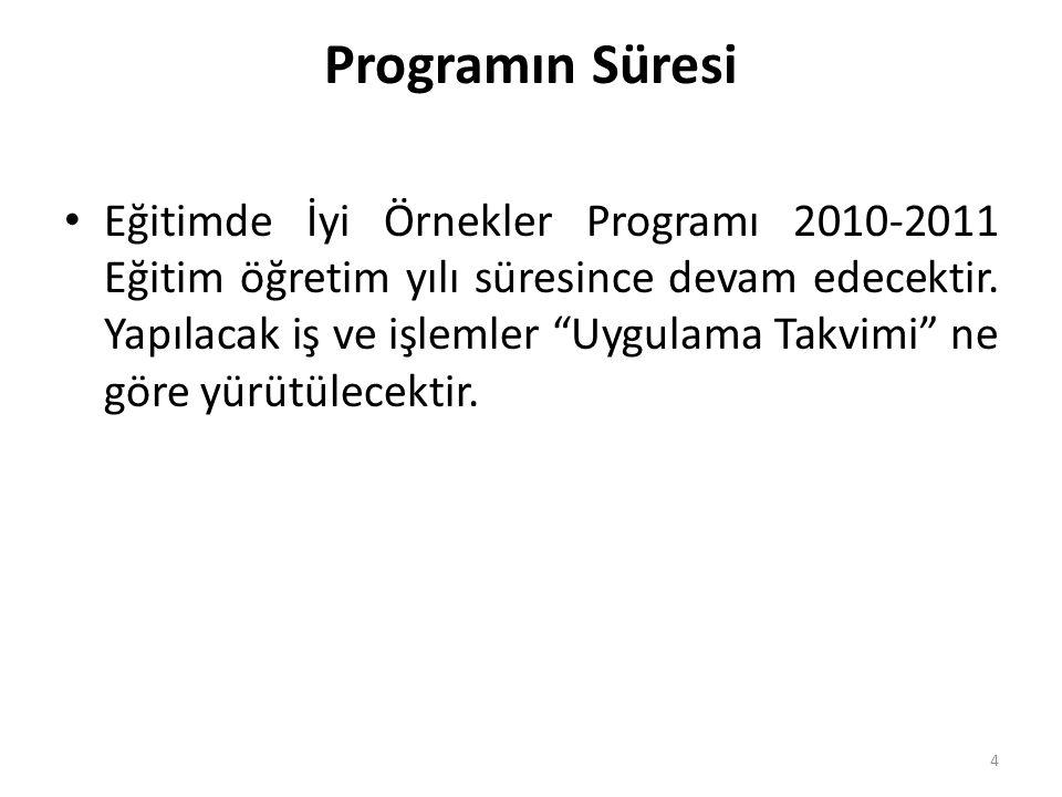 Programın Süresi
