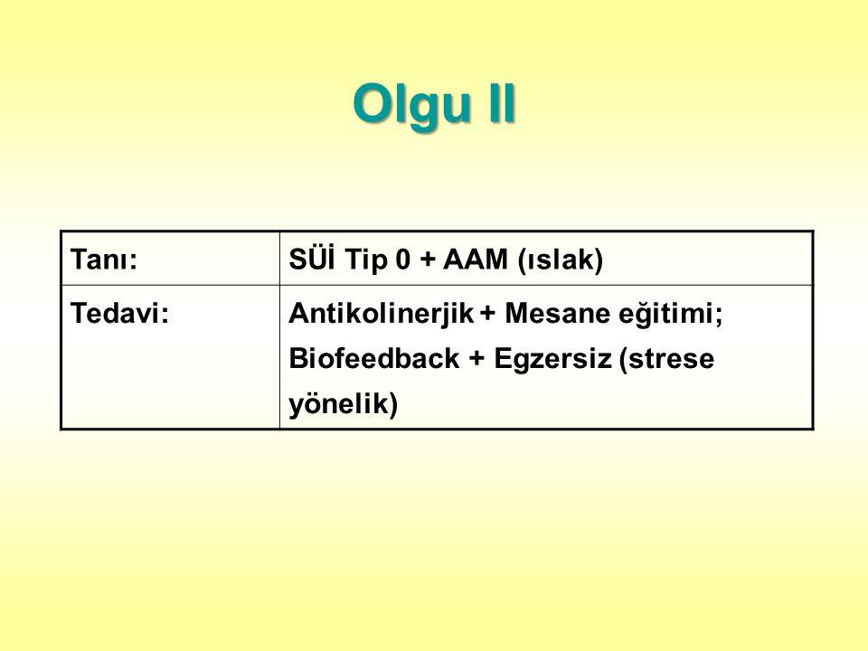 Olgu II Tanı: SÜİ Tip 0 + AAM (ıslak) Tedavi: