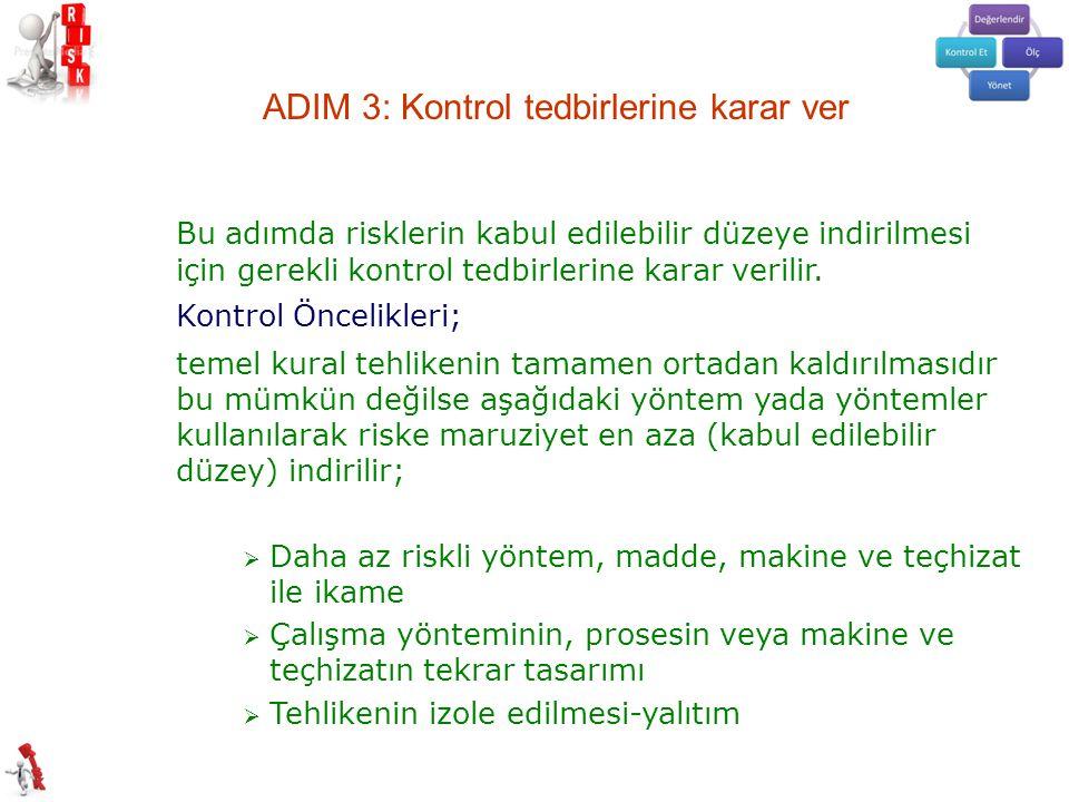 ADIM 3: Kontrol tedbirlerine karar ver