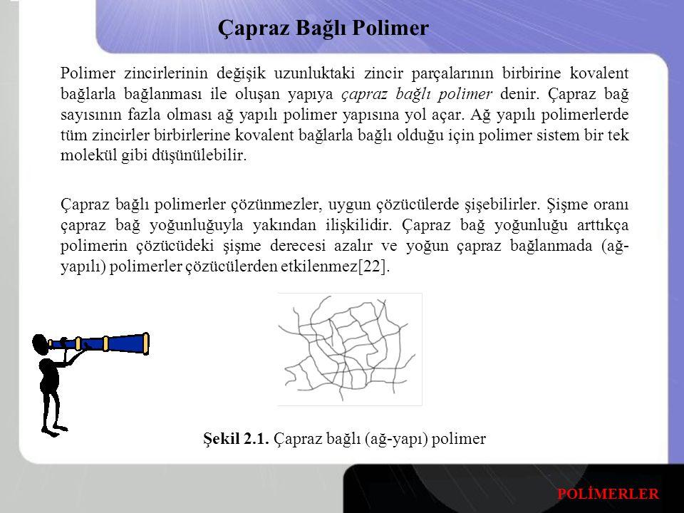 Şekil 2.1. Çapraz bağlı (ağ-yapı) polimer