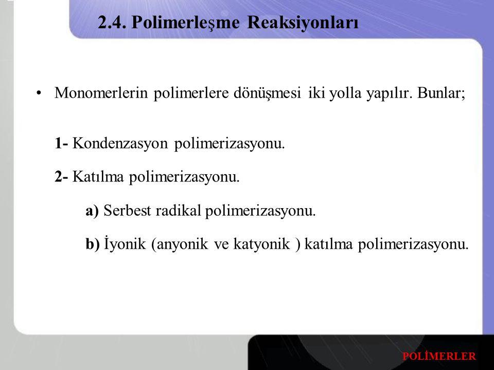 2.4. Polimerleşme Reaksiyonları