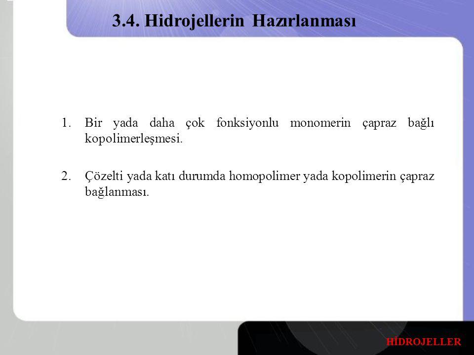 3.4. Hidrojellerin Hazırlanması