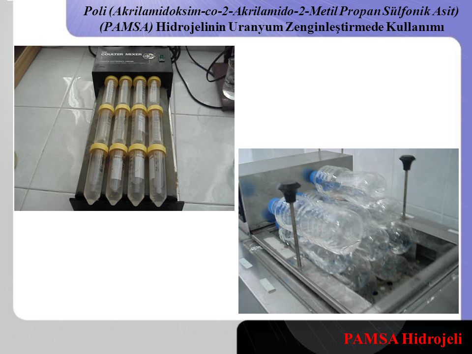 Poli (Akrilamidoksim-co-2-Akrilamido-2-Metil Propan Sülfonik Asit) (PAMSA) Hidrojelinin Uranyum Zenginleştirmede Kullanımı