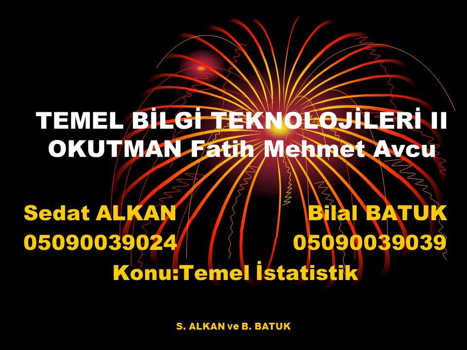 TEMEL BİLGİ TEKNOLOJİLERİ II OKUTMAN Fatih Mehmet Avcu