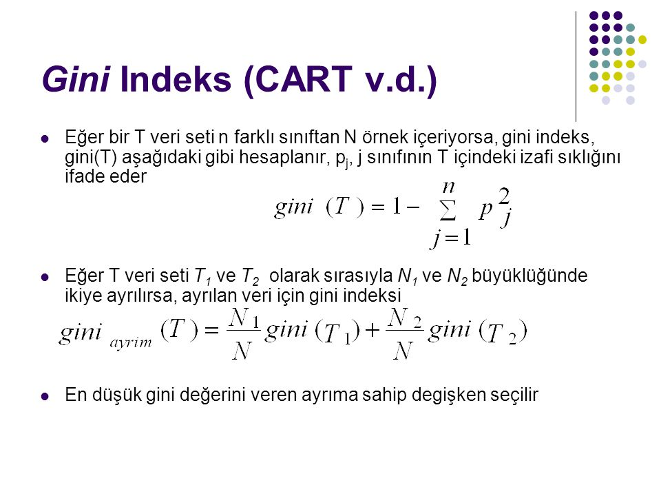 Gini Indeks (CART v.d.)