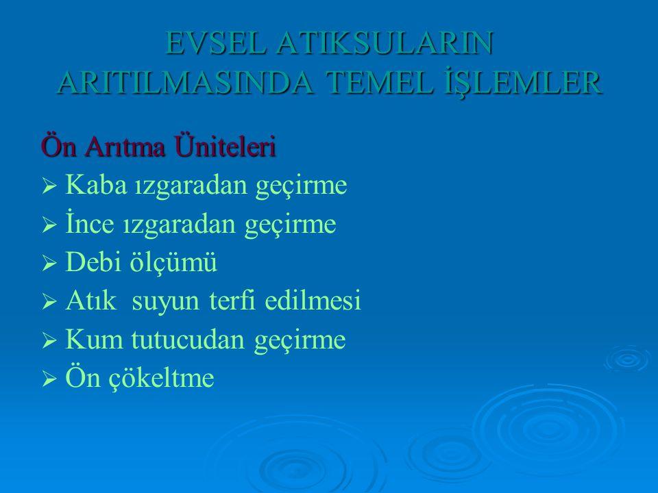 EVSEL ATIKSULARIN ARITILMASINDA TEMEL İŞLEMLER