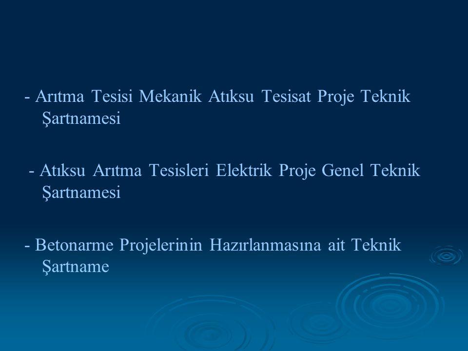 - Arıtma Tesisi Mekanik Atıksu Tesisat Proje Teknik Şartnamesi