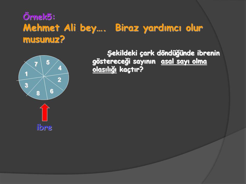 Mehmet Ali bey…. Biraz yardımcı olur musunuz