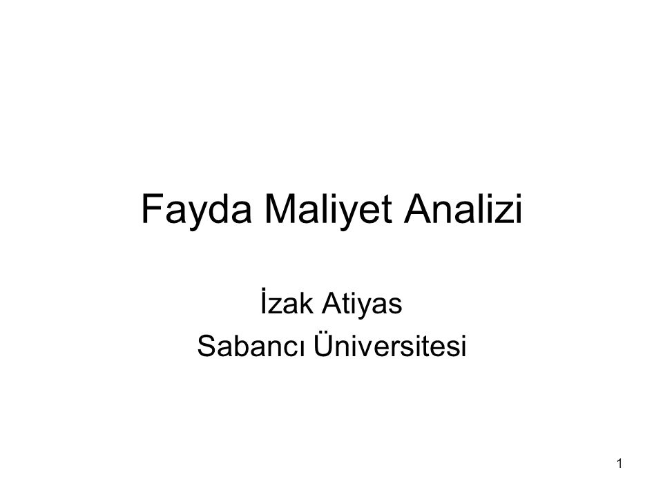 İzak Atiyas Sabancı Üniversitesi